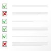 Checklist with checks and x's | Google Ads for Therapists