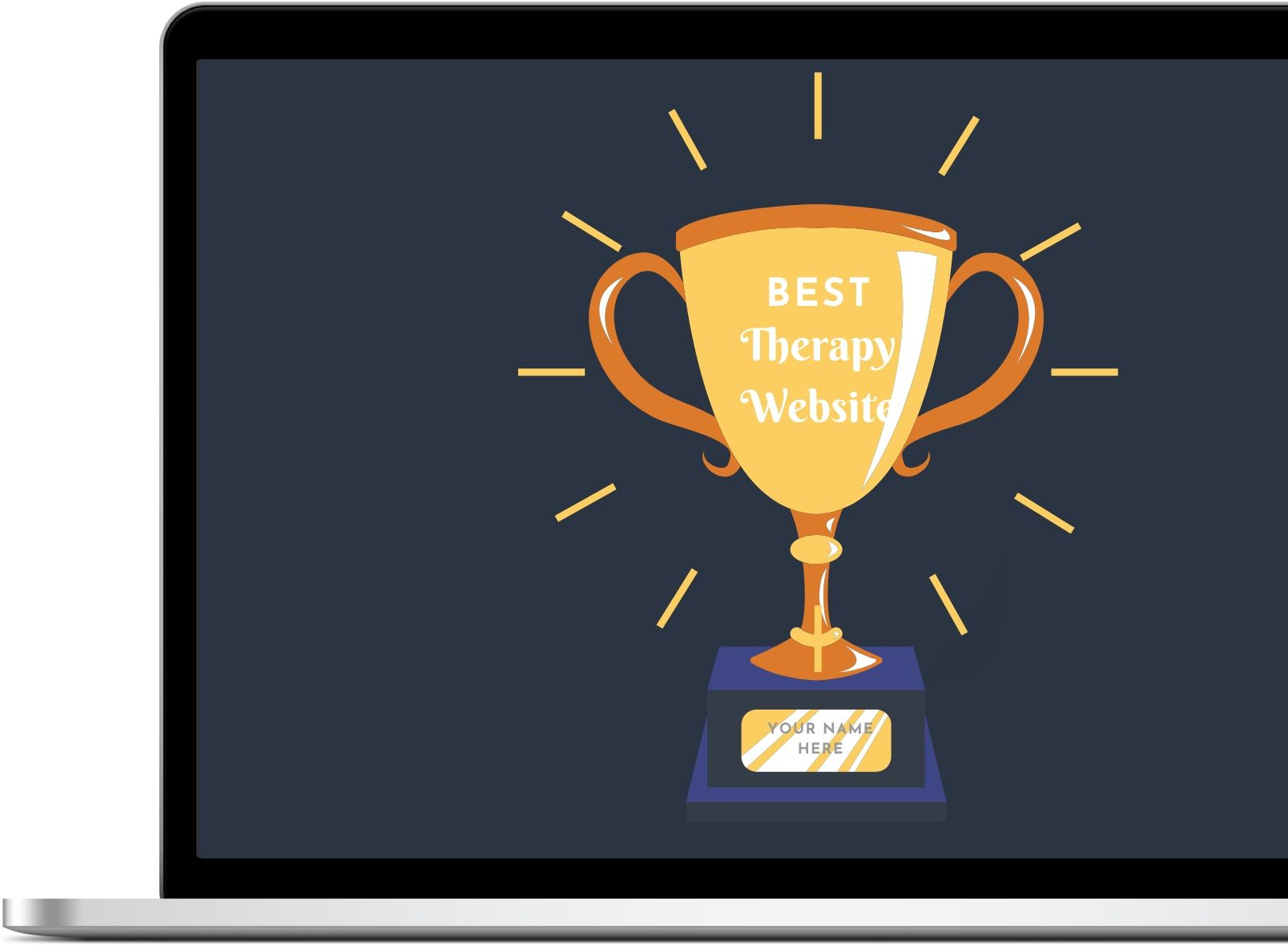 Best Therapy Website Award on Laptop Screen