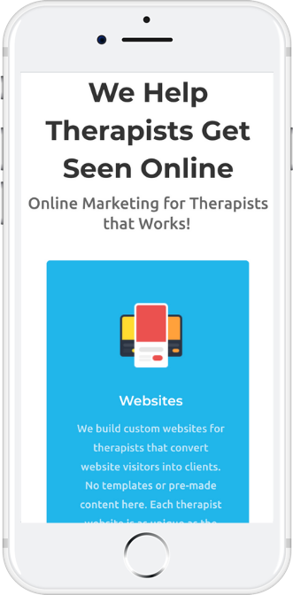 Websites for therapists on iPhone