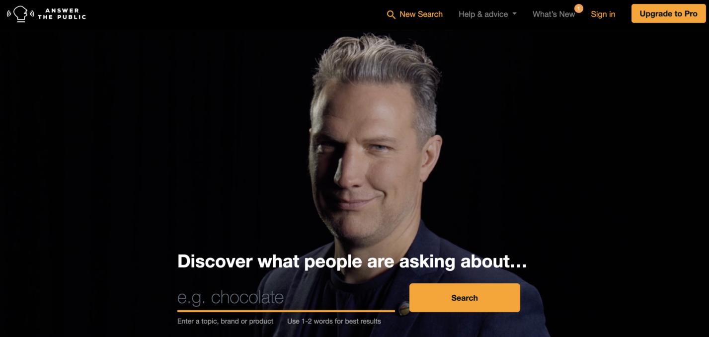 AnswerThePublic Screenshot for Keyword Research